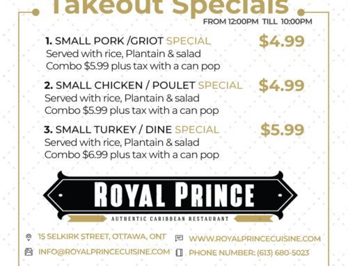 Takeout & Breakfast Specials